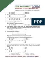 Soal PTS Ganjil Matematika Kelas 6 K13