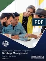 Strategic ManagementIIMK2019