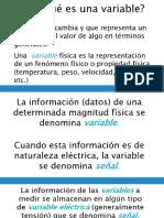 Tipos de variables eléctricas