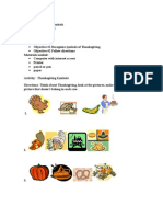 Activity Sheet | Kindergarten | Thanksgiving Symbols