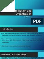 Report - Curriculum Design and Organization