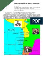 La Guerra Del Pacífico o La Guerra Del Guano y Del Salitre