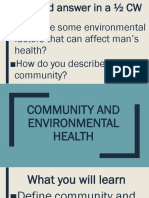 Community and Environmental Health 9