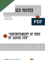 Processed Papaya