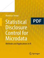 Statistical Disclosure Control for Microdata