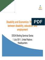 Disability and Economics