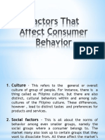 Factors That Affect Consumer Behavior 1
