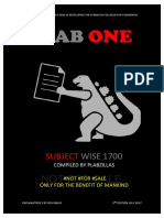 1700 Subject Wise by PLAB Zillas (Bookmarked)