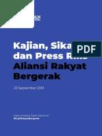 Kajian, Sikap, Dan Press Rilis Aliansi Rakyat Bergerak