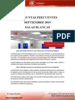 PREGUNTAS FRECUENTES SEPTIEMBRE 2019 SALAS BLANCAS