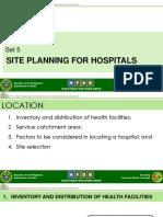 Set 5- Site Planning