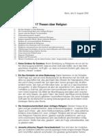 17 THESEN ÜBER RELIGION, Eisenbeiß