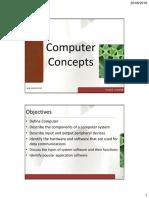 LECTURE 01 - Computer Concepts