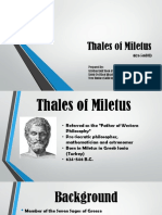 1.Thales of Miletus