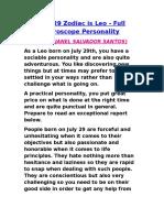 Full Horoscope Personality - LEO
