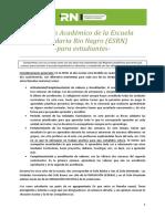 Régimen Académico para Estudiantes