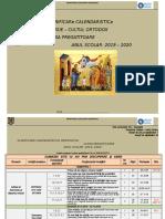 Planificare calendaristica - Clasa pregatitoare, an 2019-2020