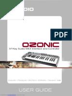 M- Audio Ozonic User Guide