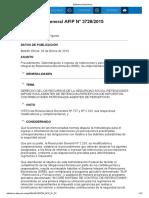 Rg 3726-15 Recursos de La Seguridad Social-Contribuciones Patronales - Agentes de Percepción
