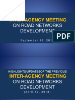 20180918 Inter-Agency Meeting on Road Networks Development
