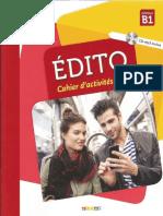 Edito b1 Cahier d Exercices