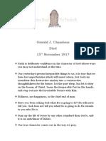 Oswald J. Chambers - 15th November 1917