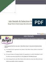 Bergerpaints Selection Process