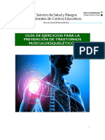 Guia de Prevencion de Trastornos Musculoesqueleticos
