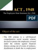 ESI ACT , 1948(team 3)