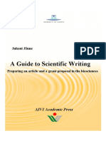 A Guide to Scientific Writing
