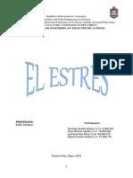 "TRABAJO DE ""EL ESTRÉS"""
