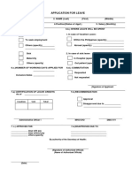 Application for Leave Form CS 06