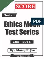 ethics test psper
