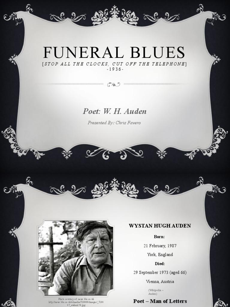 funeral blues auden analysis