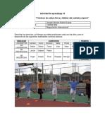 Actividad 10, Evidencia 7 Informe Practicas de Cultura Fisica y Habitos Del Cuidado Corpo