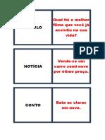 Jogo Dominó Dos Gêneros