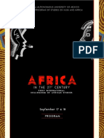 Programa Coloquio Africa