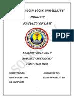 Sociology Project 3rd Sem