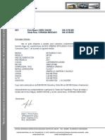 Carta de Caracteristicas Tecnicas -