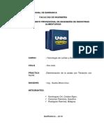 Determinacion de La Acidez Por Titulacion Con Naoh. Informe Numero 2 - Copia