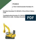 PC200-8 Error Code