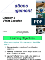 Chapter 3 Plant Location New