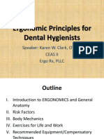 Ergonomic Principles for Dental Hygienist