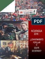 Nicaragua 2018 Levantamiento Popular o Golpe de Estado