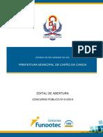 PREFEITURA MUNICIPAL DE CAPÃO DA CANOA - CONCURSO PUBLICO 1