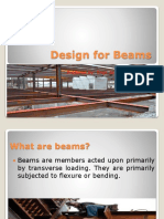 Design for beams