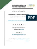Tesis DISEÑO GEOTECNICO DE UNA EXCAVACION PROFUNDA