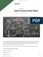 Best ACT Math Formula Cheat Sheet