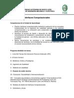 Programa detallado clase IC