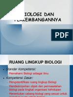 Biologi  Perkembangannya-2017.ppt